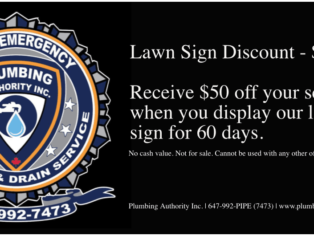 $50 off your services when you display our lawn sign for 60 days!