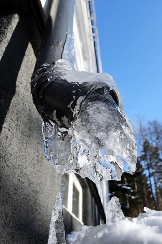 frozen drain pipe