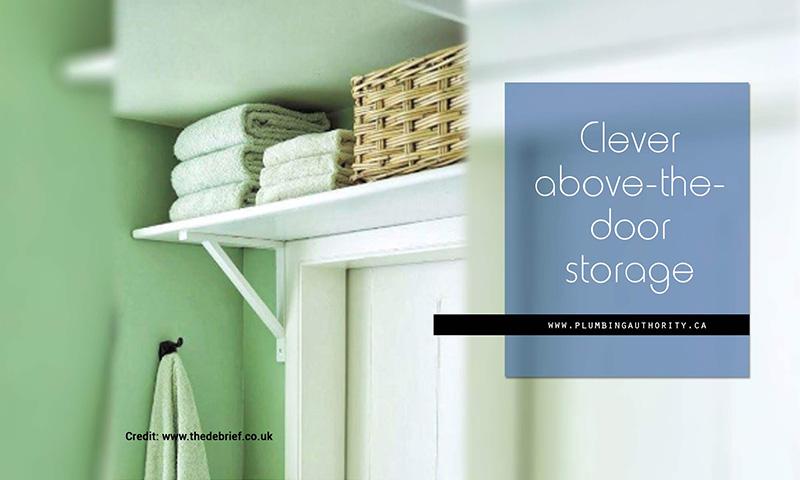 Clever above-the-door storage
