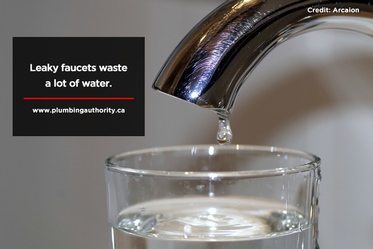 Leaky faucets waste a lot of water.
