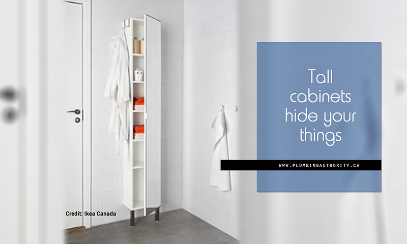 Tall cabinets hide your things