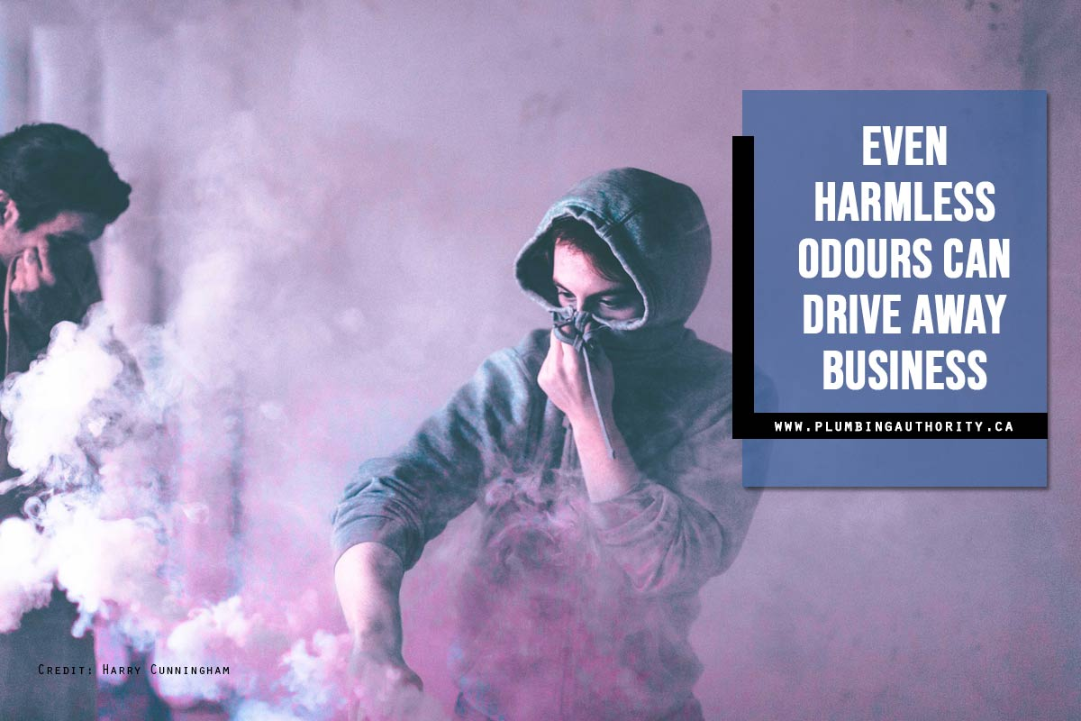 Even harmless odours can drive away business