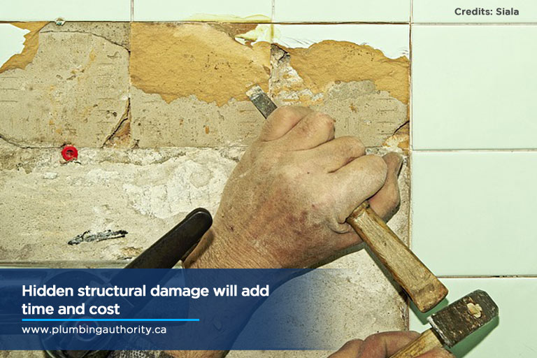 Hidden structural damage will add time and cost