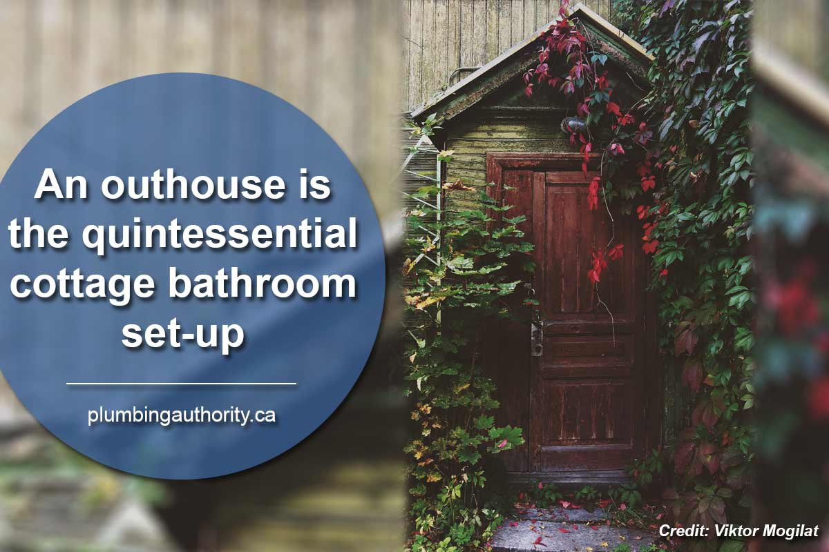 An outhouse is the quintessential cottage bathroom set-up