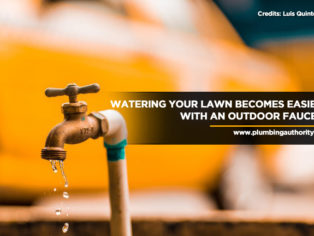 Watering your lawn becomes easier with an outdoor faucet