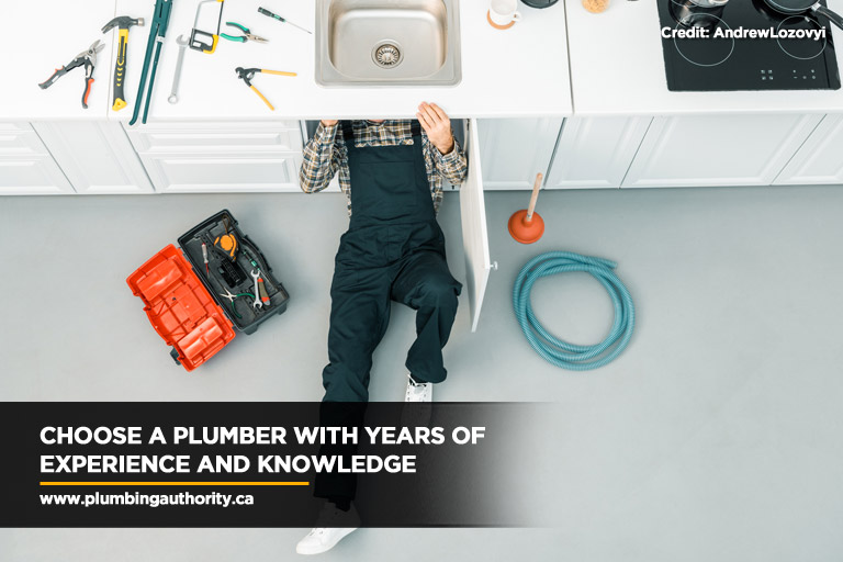 Choose a plumber with years of experience and knowledge