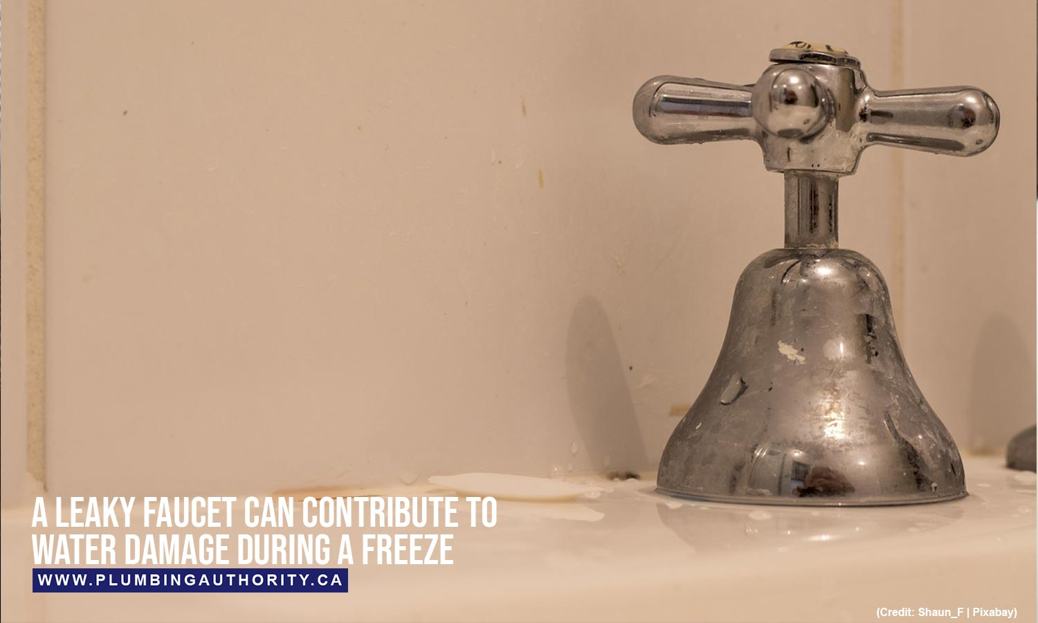A leaky faucet can contribute to water damage