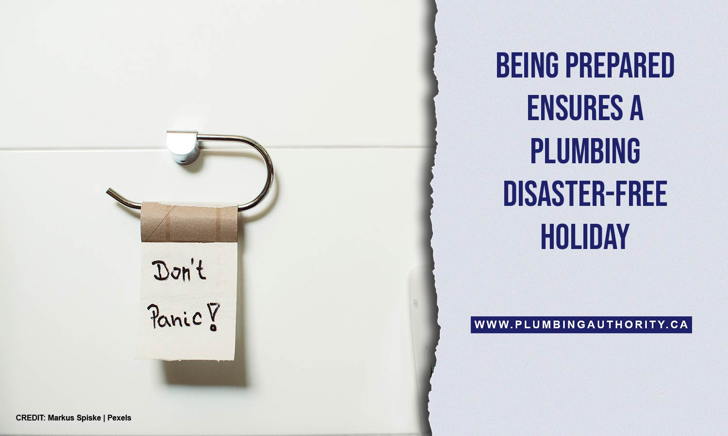 Being prepared ensures a plumbing disaster-free holiday