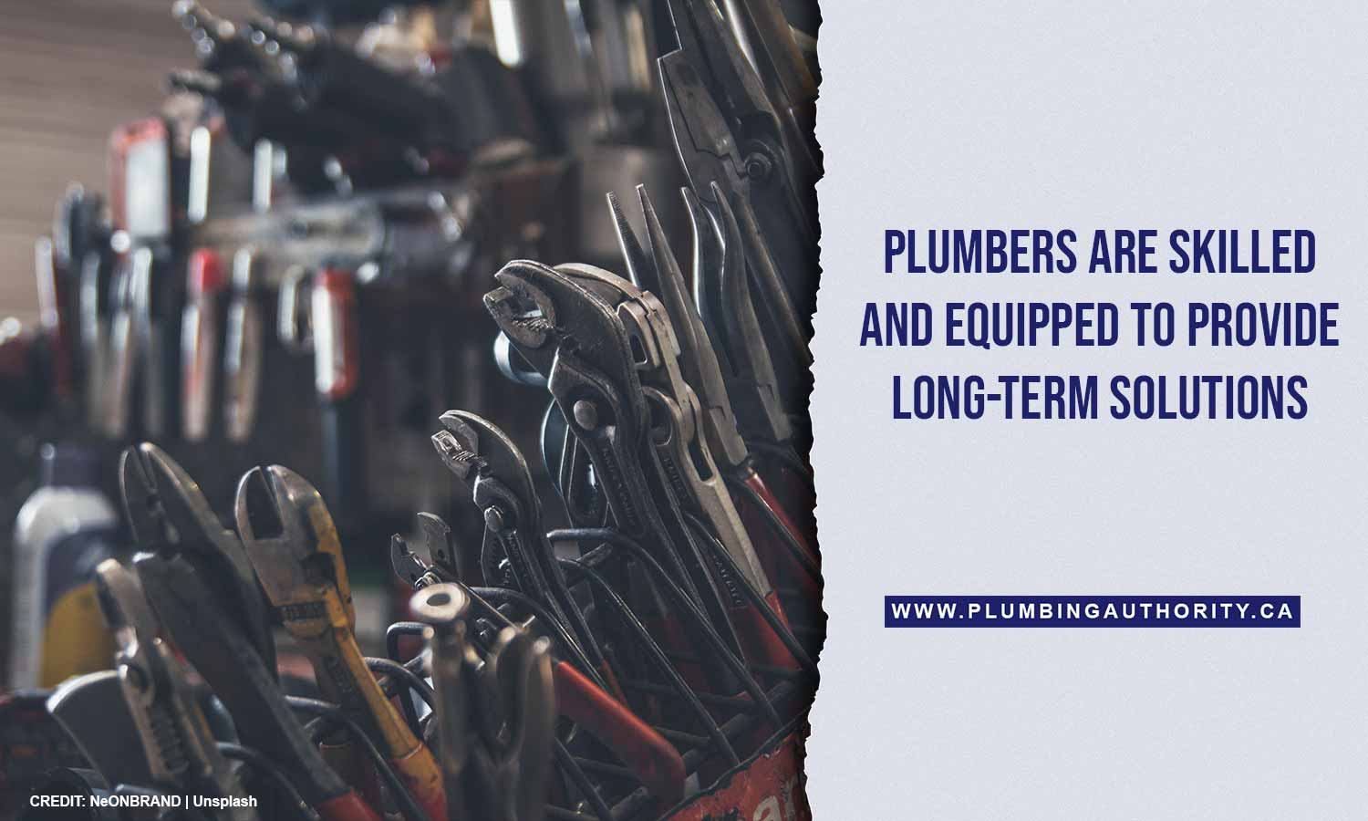 Plumbers are skilled and equipped to provide long-term solutions