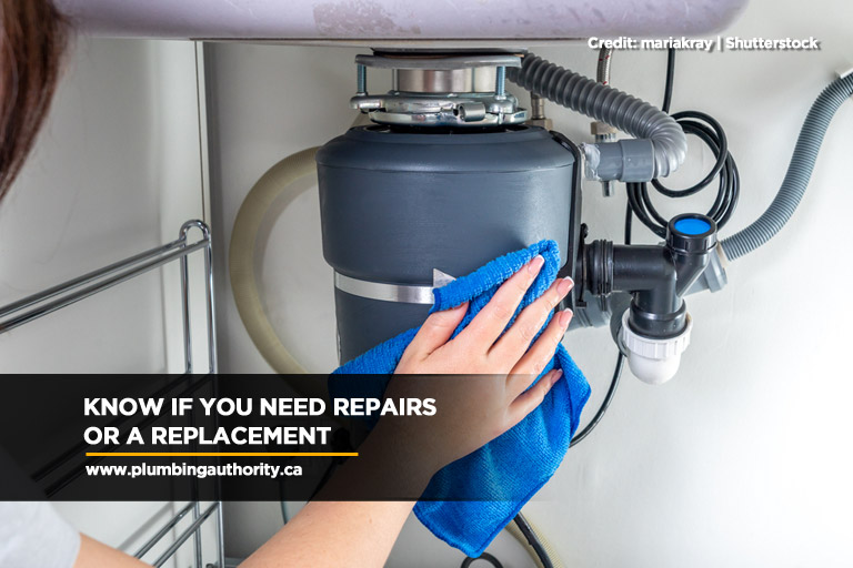 Know if you need repairs or a replacement